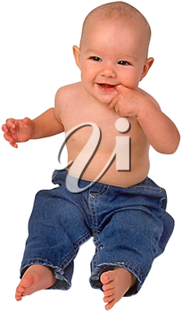 Royalty Free Photo of a Happy Infant Child Sitting Up