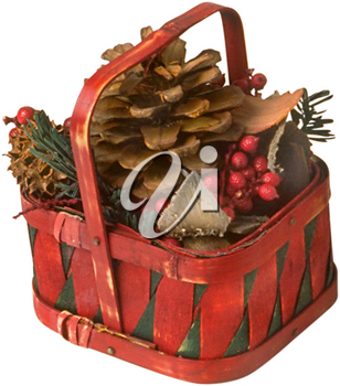 Royalty Free Photo of a Decorative Fall Basket