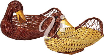Royalty Free Photo of a Pair of Duck Baskets