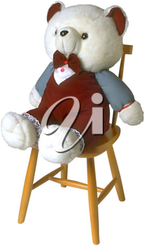 Royalty Free Photo of a Teddy Bear on a Chair