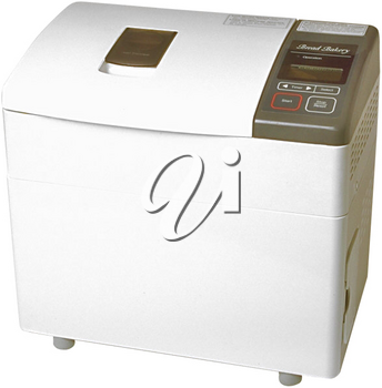 Royalty Free Photo of a Bread Maker on a White Background