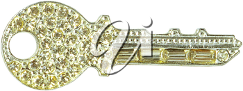 Royalty Free Photo of a Key Brooch