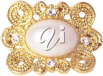 Royalty Free Photo of a Pearl Brooch
