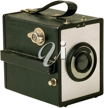 Royalty Free Photo of an Old Camera with a Handle