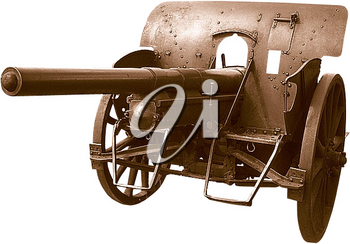 Royalty Free Photo of a Brass Replica Cannon