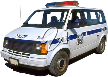 Royalty Free Photo of a Police Van
