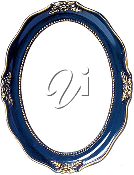 Royalty Free Photo of a Navy and Gold  Picture Frame