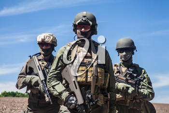 Group of jagdkommando soldiers Austrian special forces