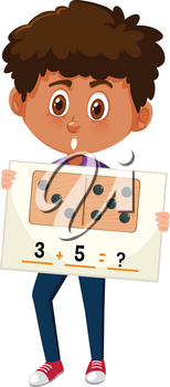 Boy with math question illustration