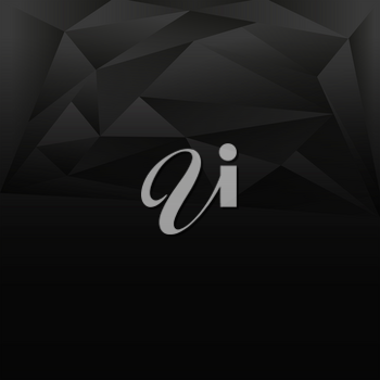 Background design with gray and black triangles illustration