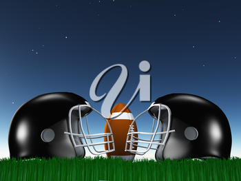 American Football Helmets and Ball Composition