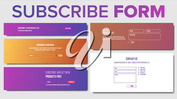 Subscribe Form Vector. Service System. Modern Template Illustration