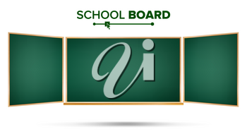 School Board Vector. Isolated On White Background. Wooden Frame. Realistic Illustration