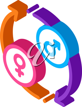 lgbt circle arrows icon vector. isometric lgbt circle arrows sign. color isolated symbol illustration