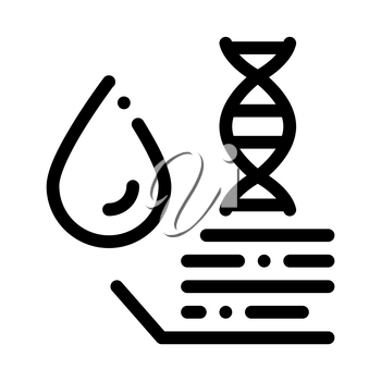 Molecule In Drop Water Biomaterial Vector Icon Thin Line. Biology And Science Flasks, Bioengineering, Dna And Medicine Biomaterial Concept Linear Pictogram. Monochrome Contour Illustration