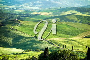 VAL D'ORCIA, TUSCANY/ITALY - MAY 16 : Countryside of Val d'Orcia in Tuscany on May 16, 2013