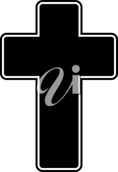Church cross it is the black color icon .