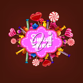 Candy Sweet Shop background set of different colors of candy, candy, sweets, chocolate candy, jelly beans