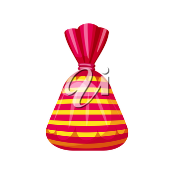 Candy sweets on white background, vector illustration