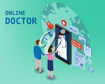 Doctor online isometry healthcare and medical consultation using a smartphone technology