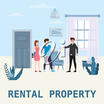 Real estate concept. Sale or rent new home service
