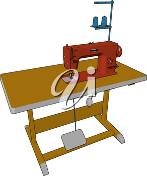 It decreases the amount of manual sewing work performed in clothing companies it improved the efficiency and productivity of industries vector color drawing or illustration