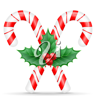 christmas candy stock vector illustration isolated on white background