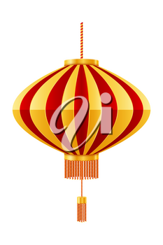 red chinese lanterns for holiday and festival decoration for design stock vector illustration isolated on white background