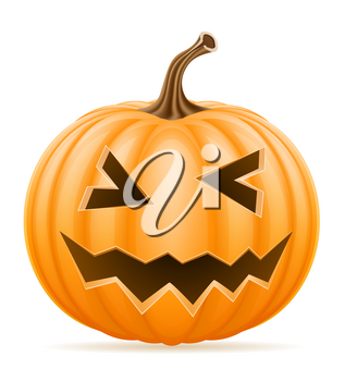 horrible pumpkin halloween stock vector illustration isolated on white background