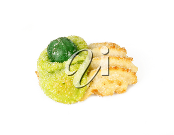 Sweet pastry on white background