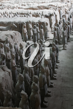 Lintong District, Shaanxi, China - 18 June 2011: Terracotta Army, Mausoleum of the First Qin Emperor