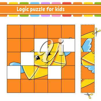 Logic puzzle for kids. Education developing worksheet. Learning game for children. Activity page. Simple flat isolated vector illustration in cute cartoon style.