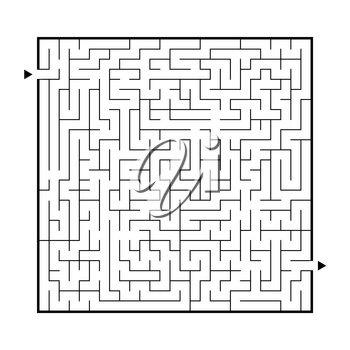 Difficult big maze. Game for kids and adults. Puzzle for children. Labyrinth conundrum. Find the right path. Flat vector illustration